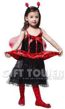 ชุดเด็กแฟนซีแมลงเต่าทองน้อย แบบที่ 3 ใช้ได้ทั้งเด็กหญิง ขนาด L, XL