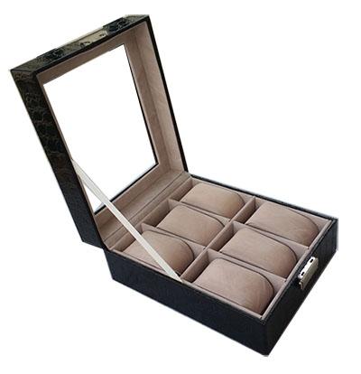 กล่องใส่นาฬอกา 6 เรือน (พร้อมส่ง) มีกุญแจล็อค