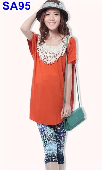 #สินค้าลดราคา*รีบๆเลยจร้า #เสื้อยืดคอกลม แขนสั่น แต่งคอด้วยผ้าถัก มี 2 สี ส้ม ผ้ายืดเนื้อนิ่มค่ะ