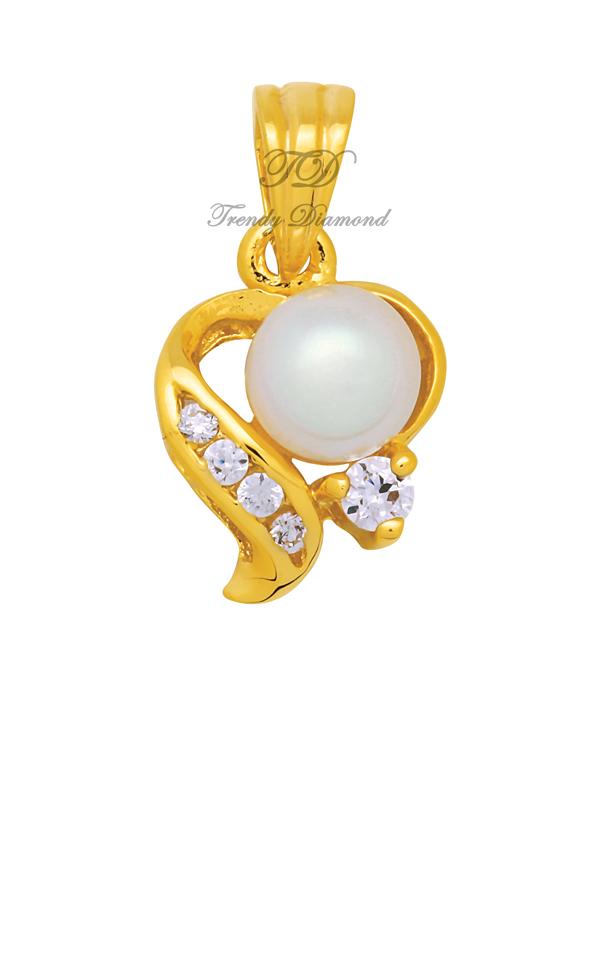 จี้เพชร จี้เพชร Pearl at Hearth สีทอง