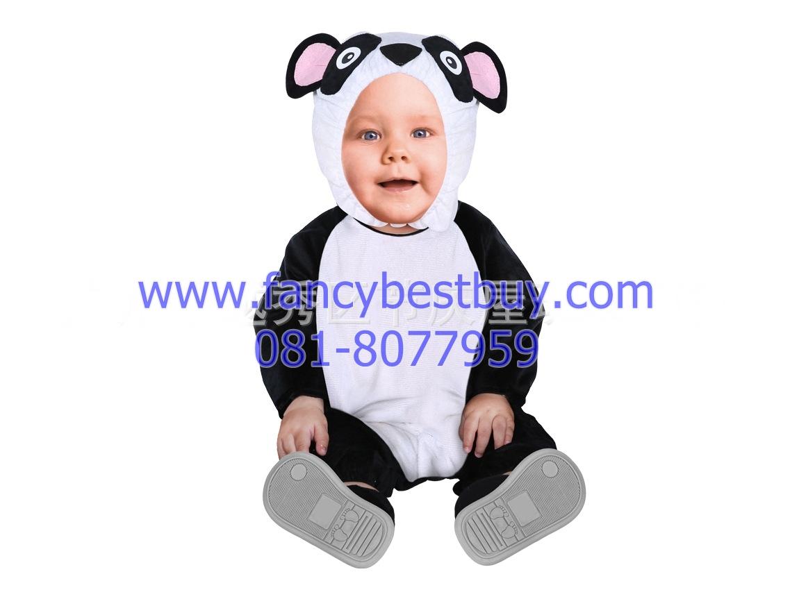 ชุดแฟนซีแพนด้า เป็นชุดแฟนซีเด็กทารกหรือเด็กเล็ก ผ้านิ่มสำหรับเด็กอ่อน ใช้ได้ทั้งเด็กชายหญิง M 70-80 cm, L 80-90 cm. (ไม่รวมรองเท้า)