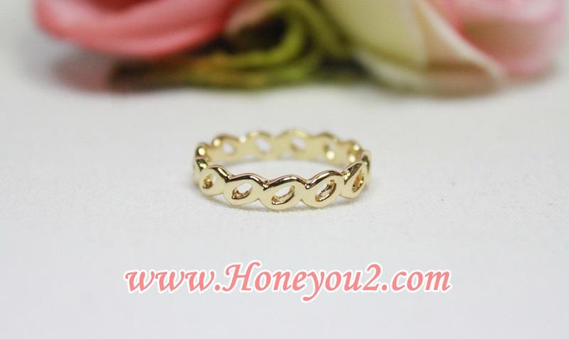 แหวนทอง วงรีต่อยาวรอบวง