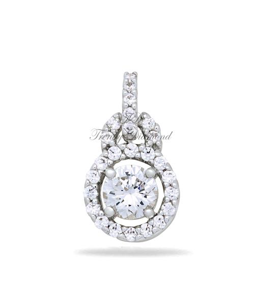 จี้เพชร จี้เพชร Queen of Tiffany สีทองคำขาว
