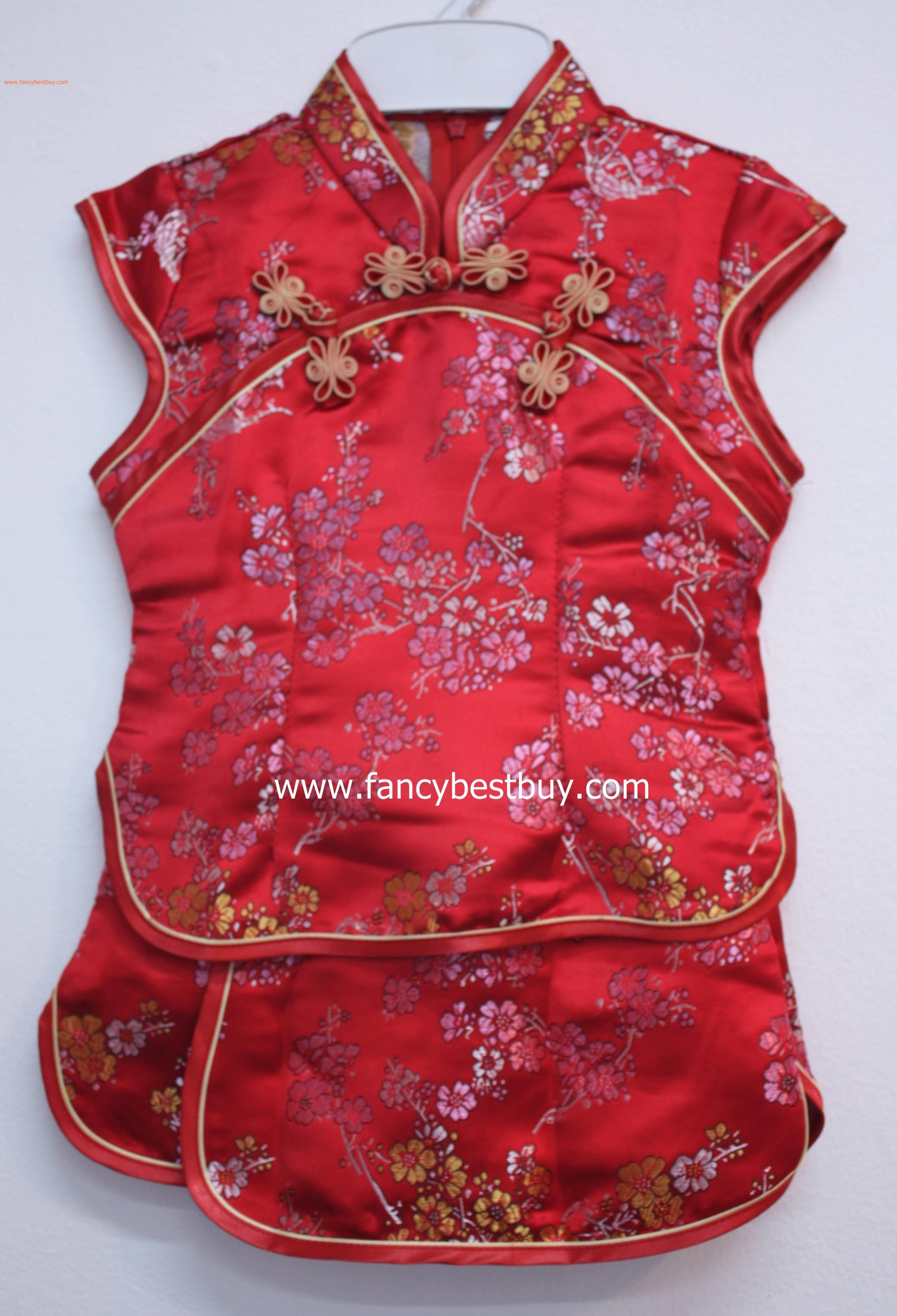 ชุดประจำชาติจีน สำหรับเด็กหญิง Chinese National Uniform ขนาด SS (เด็ก 1-2 ขวบ)
