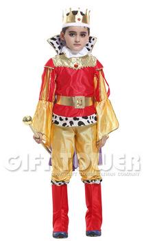 ชุดเจ้าชายแฟนซีเด็ก ชุดกษัตริย์สีทอง ผู้เลอโฉม มั่นคั่งหรือชุดพระราชา Luxurious King มีขนาด M, L, XL (ขนาดอื่นๆ สอบถามได้ครับ)