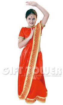 ชุดเประจำชาติอินเดียเด็กหญิง ชุดแฟนซีนานาชาติของอินเดีย ขนาด M, L, XL