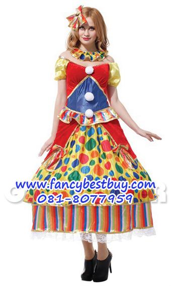 ชุดแฟนซีผู้หญิง Pretty Clown Costume ขนาดฟรีไซด์