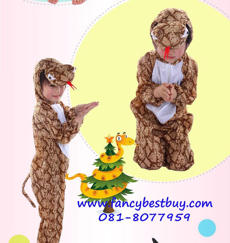 ชุดแฟนซีงู SNAKE ชุดแฟนซีสัตว์เด็กหรือชุดมาสคอต สำหรับการแสดง ใช้ได้ทั้งเด็กชายหญิง มี ขนาด L, XL