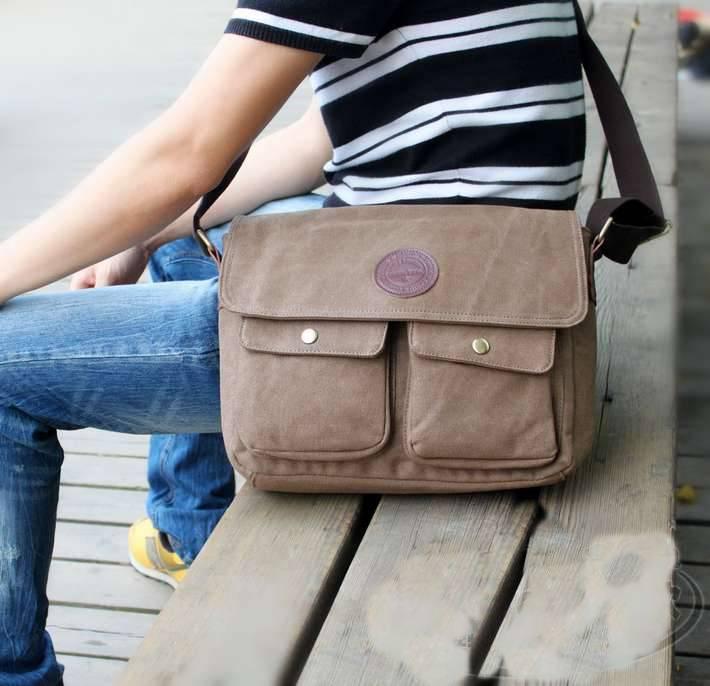 กระเป๋าแฟชั่นผู้ชายกระเป๋ายีนส์ MMG สีน้ำตาลใบกลาง งานเนี้ยบเทรนด์ฮิตติดชาร์ท สไตล์ Street เท่ๆ