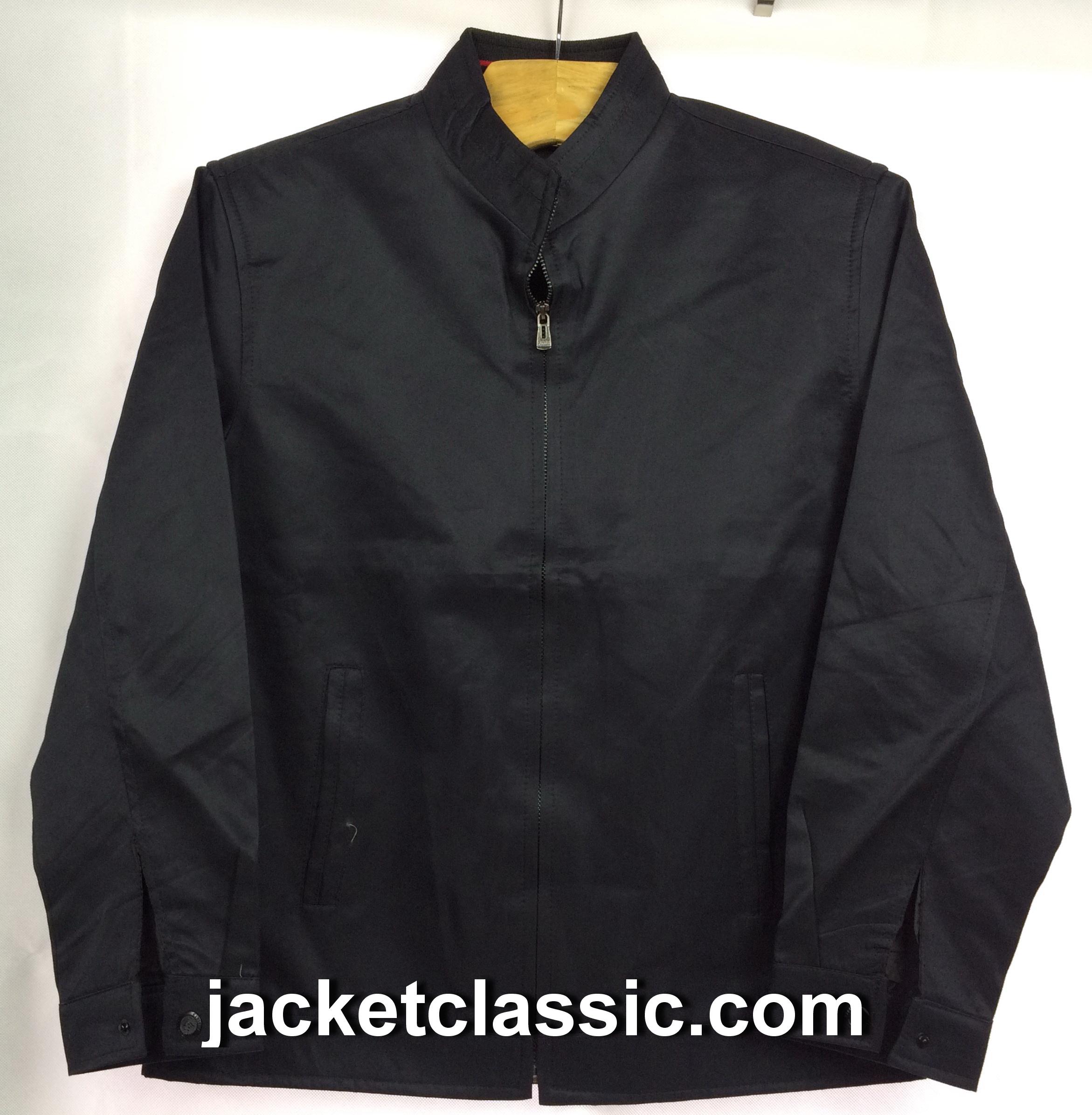 เสื้อแจ็กเก็ต xinyu คอจีนสีดำ ส่งฟรี