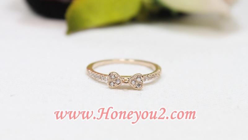 แหวน โบเพชรเล็กสีทอง