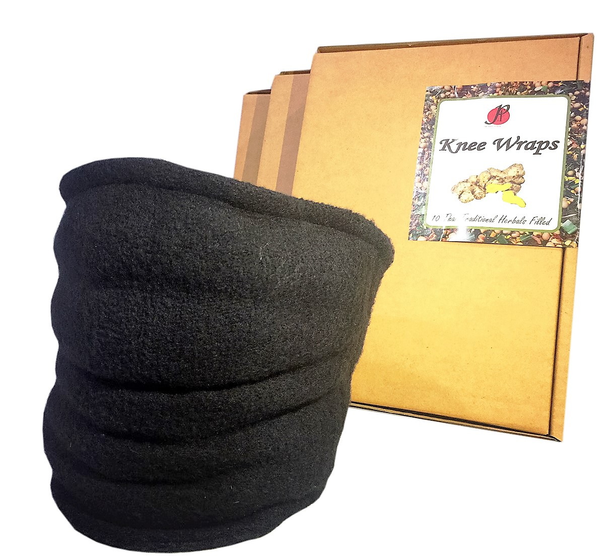 Knee Wraps for Pain Relief by P&F- Hot, Warm, or Cold Compresses with 10 Thai Traditional Herbals Filled
