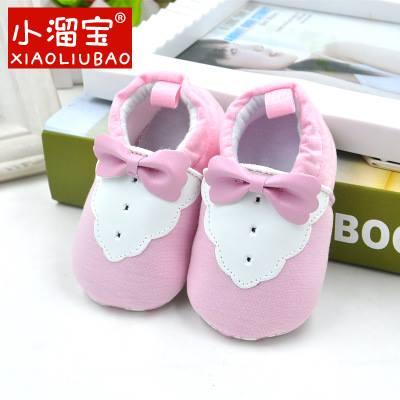 รองเท้าเด็กอ่อน 0-12เดือน รองเท้าเด็กชาย เด็กหญิง สีชมพูทักซิโด้