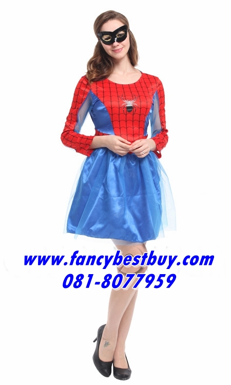 ชุดแฟนซีผู้หญิง ชุด Spider Women ขนาดฟรีไซด์