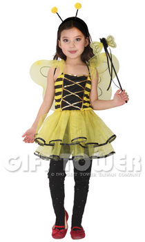 ชุดเด็กแฟนซีผึ้งน้อย แบบที่ 2 ขนาด M, L, XL (ขนาดค่อนข้างเล็ก กรุณาเลือกเพิ่ม 1 ขนาด)