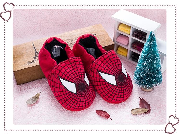 รองเท้าเด็กอ่อน 0-12เดือน รองเท้าเด็กชาย เด็กหญิง ลายการ์ตูน สไปรเดอร์แมน