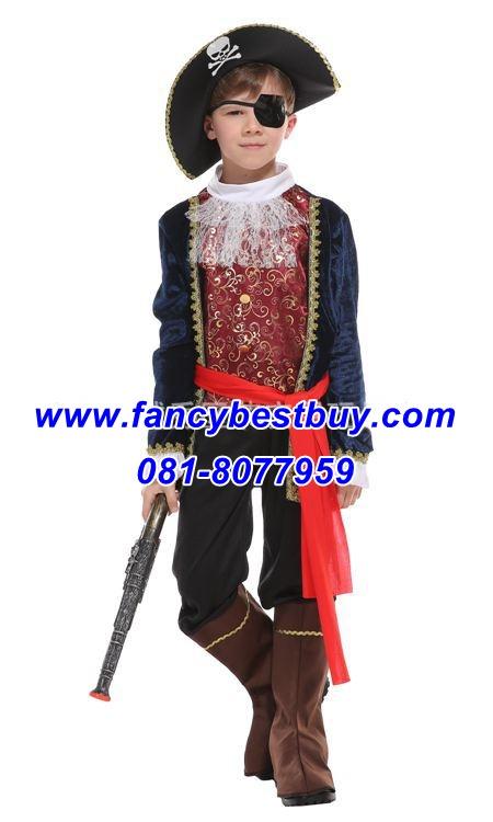 ชุดแฟนซีเด็กเจ้าชายโจรสลัด Handsome Pirate มีขนาด S, M, L, XL