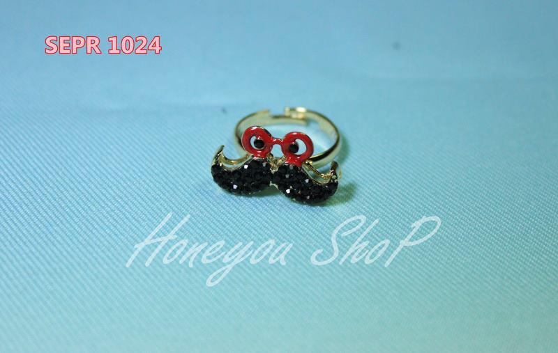 แหวนหนวด สีดำ