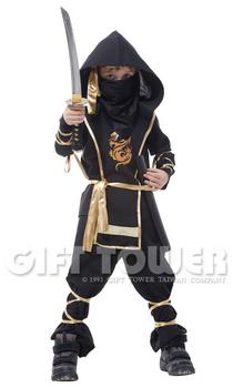 ชุดแฟนซีเด็กนินจาสีดำ Black Ninja มีขนาด M, L, XL (ขนาดอื่นๆ สอบถามได้ครับ)