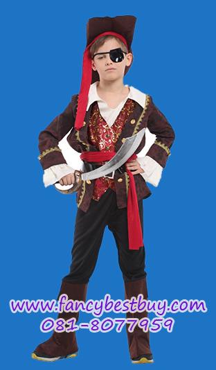 ชุดแฟนซีเด็กเจ้าชายโจรสลัด Pirate Prince มีขนาด M, L, XL