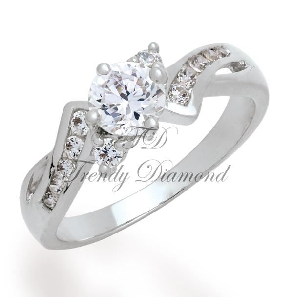 แหวนเพชร Thunder สีทองคำขาว