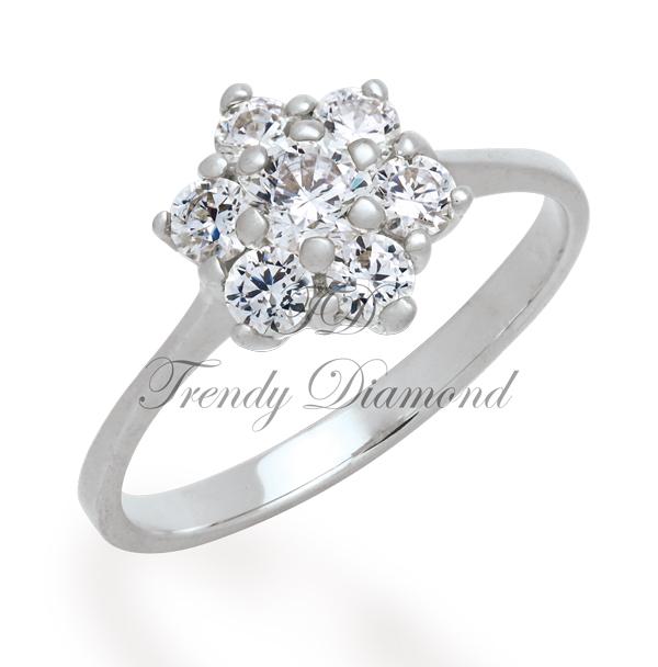 แหวนเพชร พิกุล สีทองคำขาว