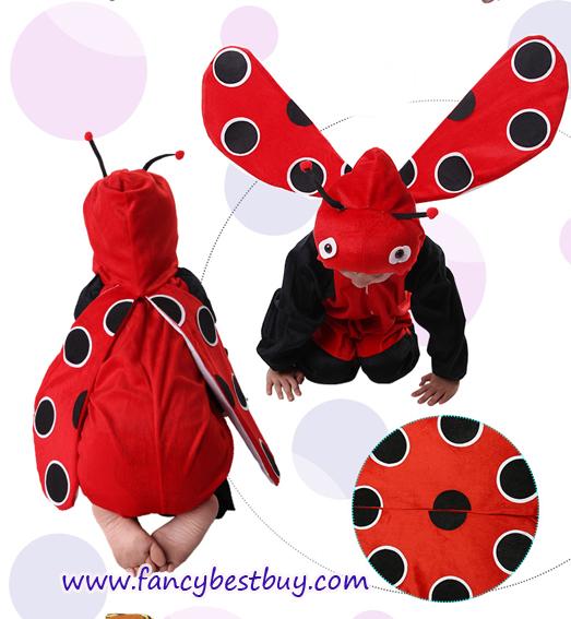 ชุดแมลงเต่าทอง ชุดแฟนซีสัตว์เด็กหรือชุดมาสคอต สำหรับการแสดง ใช้ได้ทั้งเด็กชายหญิง มี ขนาด M, L, XL