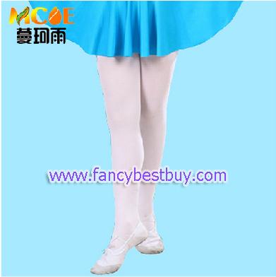 กางเกงเลกกิ้งสีขาว ปลายขาหุ้มฝาเท้า สำหรับใส่ประกอบกับชุดแฟนซี ประเภทต่างๆ มีขนาด L, XL
