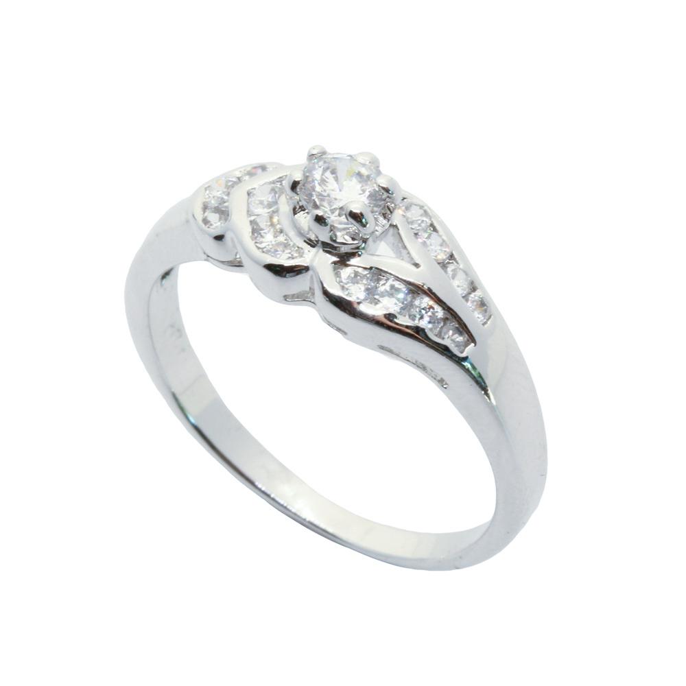แหวนเพชรCZ หุ้มทองคำขาวแท้ ไซส์ 56