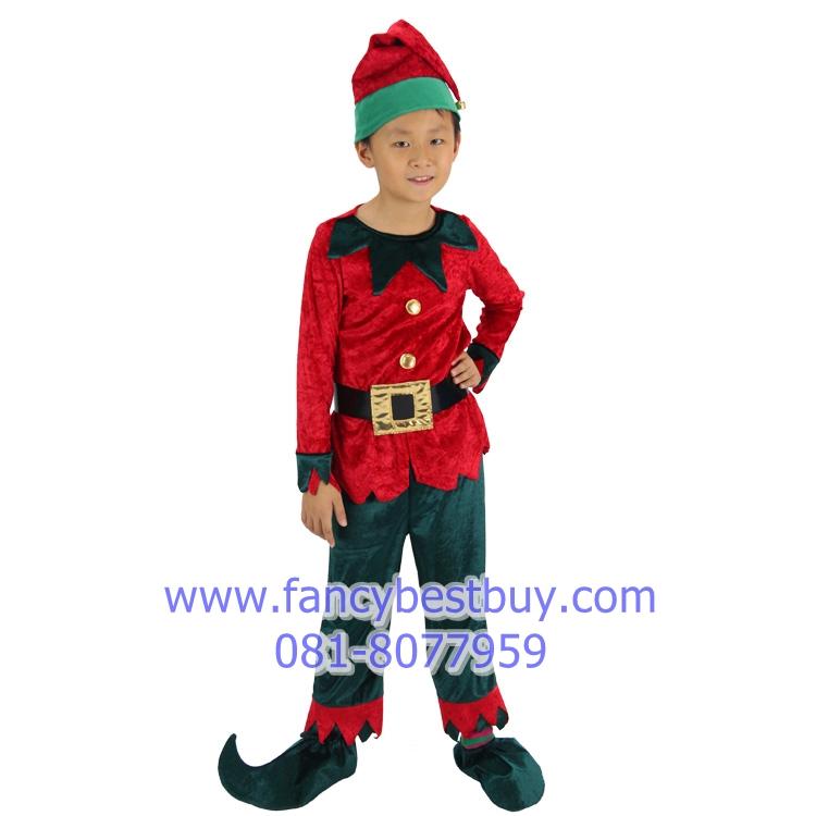 ชุดเอฟ คริสมาส Christmas Elf Boy สำหรับ เทศกาลคริสมาส ขนาด 100, 110, 120
