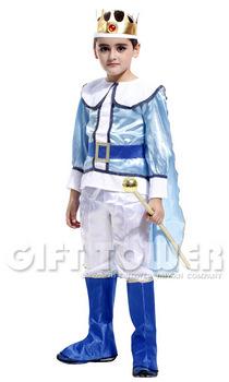 ชุดเจ้าชายแฟนซีเด็ก ชุดกษัตริย์สีฟ้า ผู้เลอโฉม มั่นคั่งหรือชุดพระราชา Noble King มีขนาด S, M, L, XL (เฉพาะสั่งซื้อออนไลน์) สำเนา