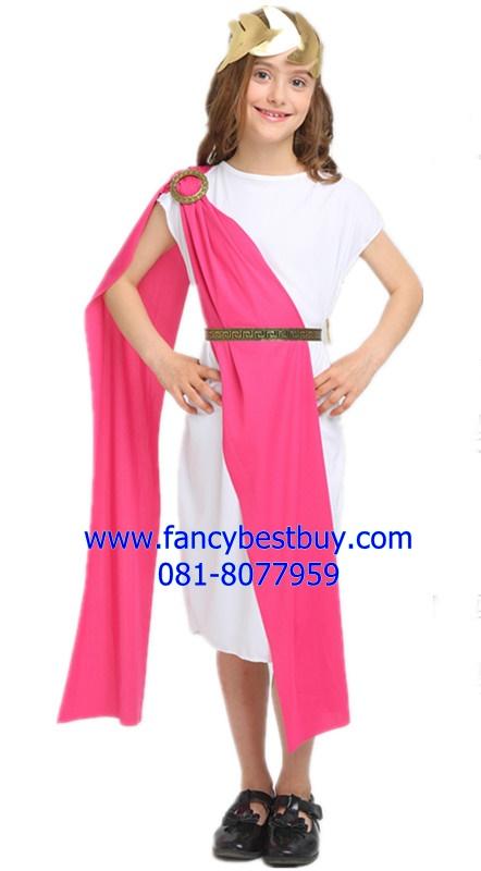 ชุดแฟนซีเด็ก ชุดประจำชาติกรีก-โรมัน สำหรับใช้เป็นชุดประจำชาติอาณาจักรกรีก-โรมัน ขนาดสำหรับ 130-160