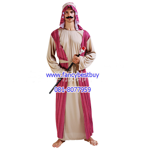 ชุดแฟนซีผู้ชาย ชุดประจำชาติอาหรับ Arabian Sheik ขนาดฟรีไซด์