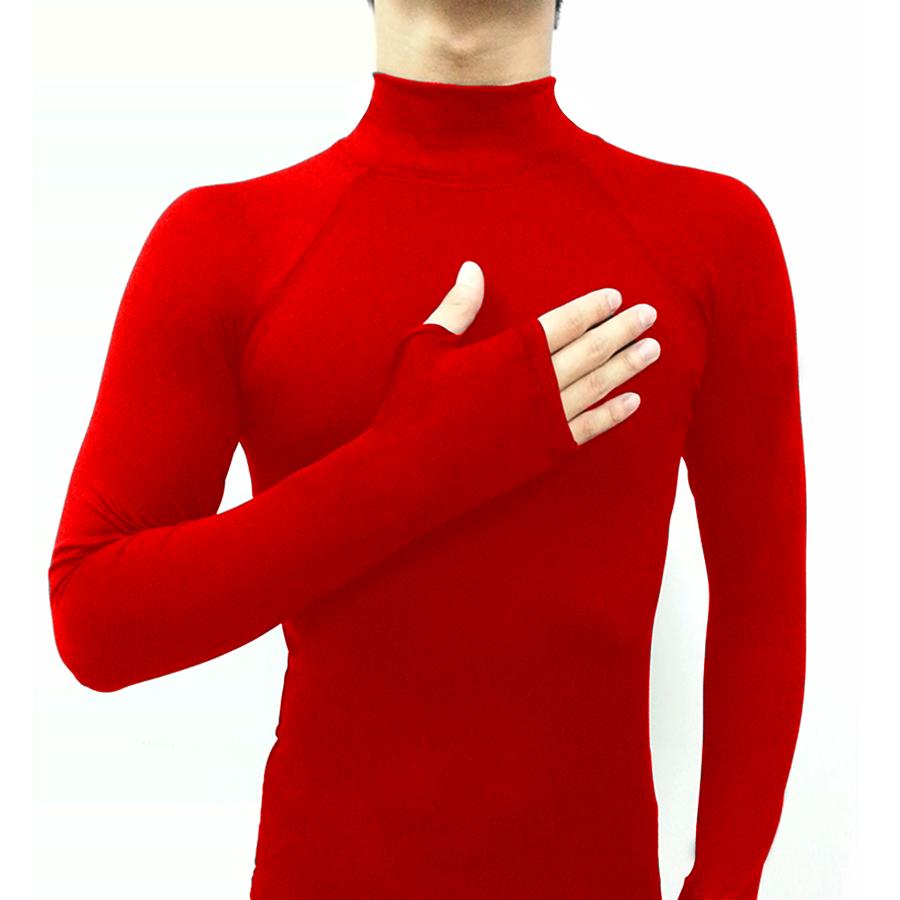 base layer รุ่นนิ้วสอด สีแดง