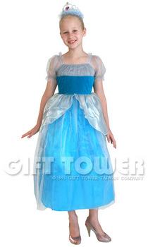 ชุดเจ้าหญิงแฟนซีเด็ก Athena Princess สีฟ้า ขนาด M, L
