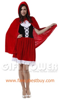 ชุดแฟนซีผู้หญิง หนูน้อยหมวกแดง Red Hat Lady ขนาดฟรีไซด์