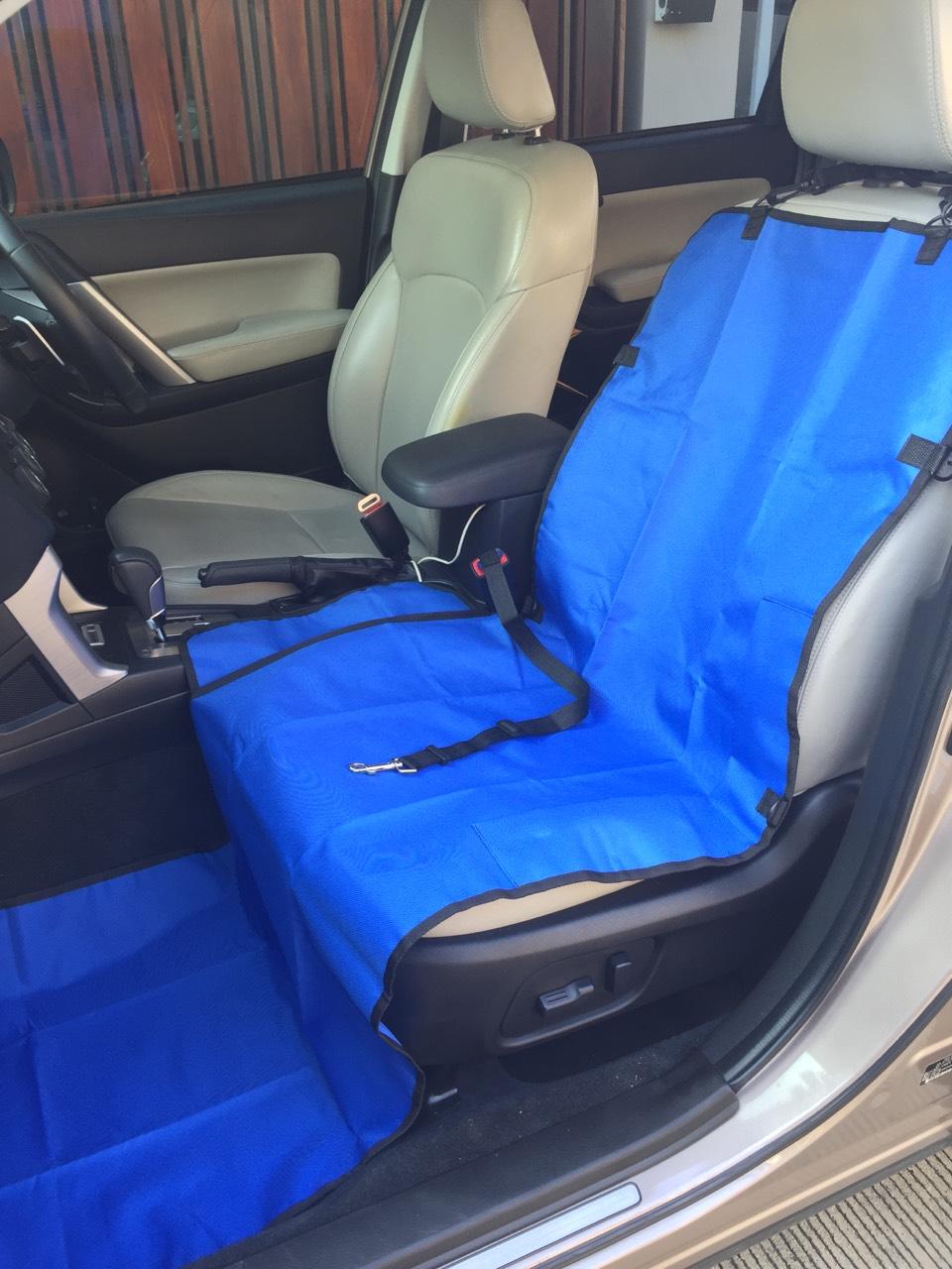 ผ้ารองเบาะรถยนต์ด้านหน้า ปูเต็ม สีน้ำเงิน