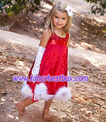 ชุดคริสมาสเด็ก สายน้อยแบบกระโปรง สีแดง Christmas Costume สำหรับ เทศกาลวันคริสมาส (ไม่มีถุงมือ) มีขนาด 90