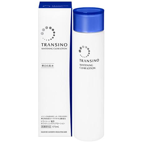 Shiseido Transino Whitening Clear Lotionโลชั่นเช็ดหน้าบำรุงผิวสำหรับผู้เป็นฝ้ากระผสมTranexamic acid ผิวหน้าขาวลดการก่อตัวของเม็ดสี melanin เหมาะสำหรับการใช้แก้ปัญหาฝ้า เน้นเรื่องการรักษารอยดำต่างๆ รอยสิว ฝ้ากระ รอยแผลตามร่างกาย ช่วยให้ใบหน้ากลับมาดูใสได้อ