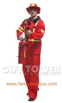 ชุดแฟนซีผู้ชาย ชุดนักดับเพลิง Fireman ขนาดฟรีไซด์