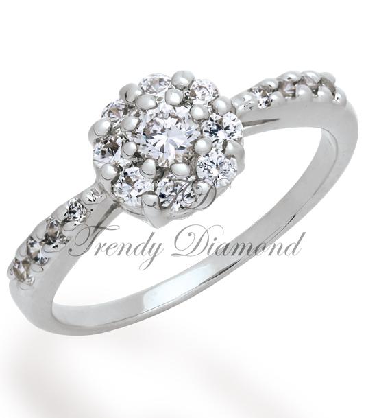 แหวนเพชร Lotus สีทองคำขาว