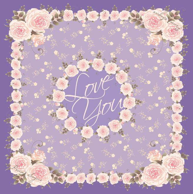 Signature Rose Scarf - Lavender