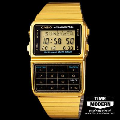 นาฬิกา Casio Data Bank เรือนทองยอดนิยม รุ่น DBC-611G-1DF