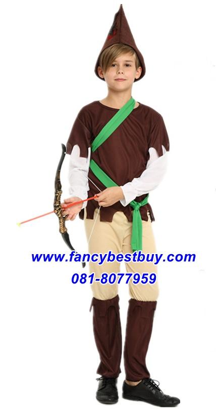 ชุดแฟนซีเด็กปีเตอร์แพน Peter Pan มีขนาด S 110-120, M 120-130, L 130-140
