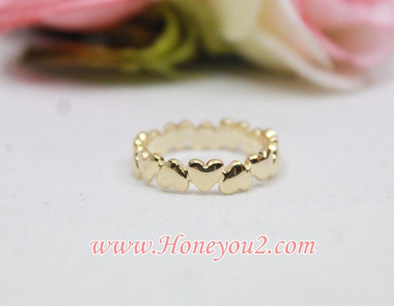 แหวน หัวใจสีทองรอบวง
