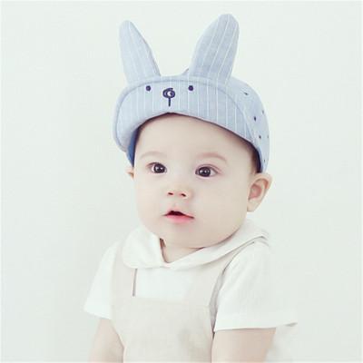 หมวกแก๊ปหูกระต่าย สีฟ้า สำหรับเด็ก 1-2ปี น่ารักมากๆค่ะ