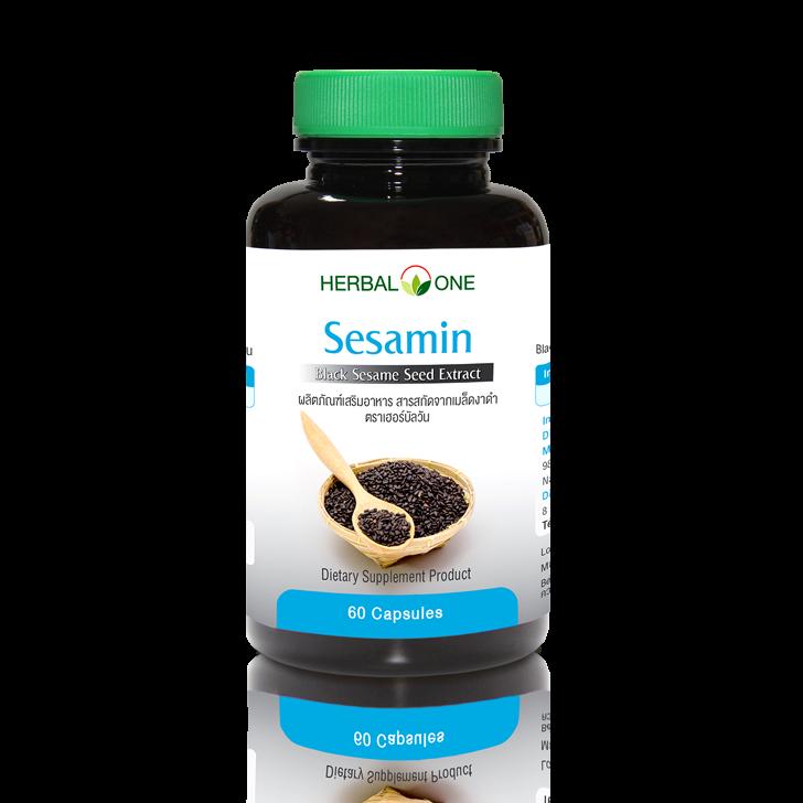 Herbal one สารสกัดจากเมล็ดงาดำ 60 แคปซูล Herbal one sesamin 60 Capsules
