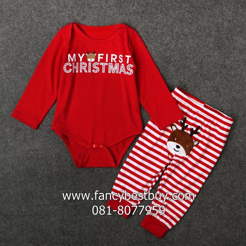 ชุดคริสมาสเด็กเล็กและเด็กทารก Christmas Costume สำหรับ เทศกาลวันคริสมาส มีขนาด 70-95