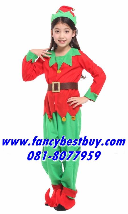 ชุดเอฟ คริสมาส Christmas Elf Girl สำหรับ เทศกาลคริสมาส ขนาด M, L