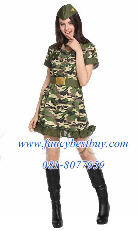 ชุดแฟนซีผู้หญิง ชุดทหารพรานหญิง Soldier Women มี ขนาด S, M